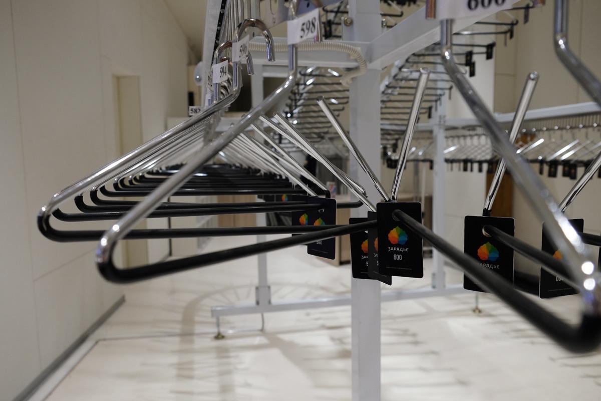 Вешалки стальные для гардероба